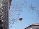 Il pallone che annuncia la processione